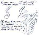 How I draw wings by SHOUTDANNY