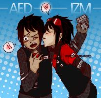 A.E.D. and IZM by thelifeofabinder