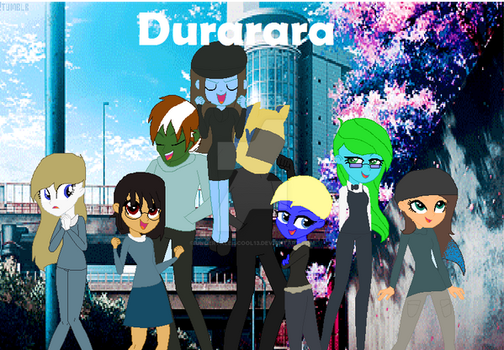 My Friends and me dress as DURARARA characters by Undertaleiscool13