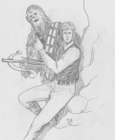 Chewbacca and Solo by mrinal-rai