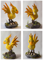 Chocobo sculpture by dashase