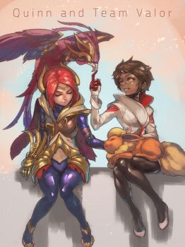 Quinn and Team Valor by ptcrow