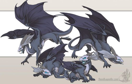 Mirror Dragons by neondragon