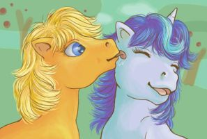 MLP: Applejack and Glory by Fulcrumisthebomb