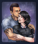 Comm   Shepard And Vega By Zenopic D8xnhiz By Vorc by Gotetho