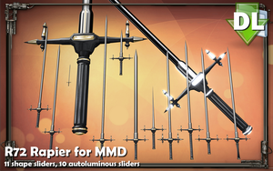 [MMD] R72 Rapier for MMD (PMX DL UPDATED) by Riveda1972