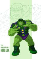HAS: THE INCREDIBLE HULK WRESTLING POSTER by Jerome-K-Moore