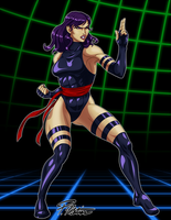 Psylocke ready for Capcom by BW-Straybullet