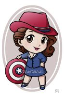 Commission - Peggy Carter Chibi by DeanGrayson