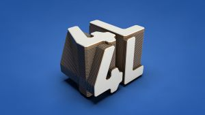4L layered wooden text by lolofson