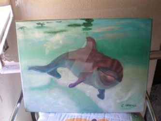 Bottle Nose Dolphin oil painting by Cristy-spain