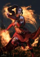 Fire Mage by Ron-faure