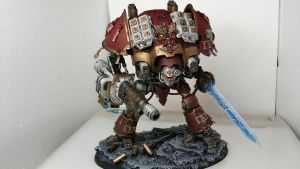 Grey Knight : Imperial Knight titan conversion by Hellblade87