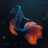 Betta Mermaid by IngridTan