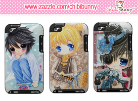 Anime chibi boys Ipod Touch cases by BunnyAndI