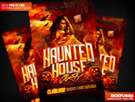 Haunted House Flyer Template PSD by Industrykidz