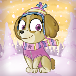 Paw Patrol - Skye in the snow by theKuutti