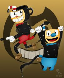 Cuphead and the Ink Machine by RandomIdeaz