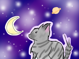 Starry Cat by BasilAroma