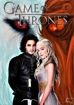 Daenerys Targaryen and Jon Snow by LeenCandice