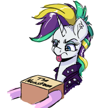 Punk Darling Horse Sketch by WitchTaunter