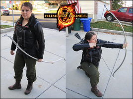 Katniss Everdeen Costume by sugarpoultry
