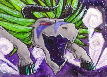 ACEO Cryofthebeast by Phoeline