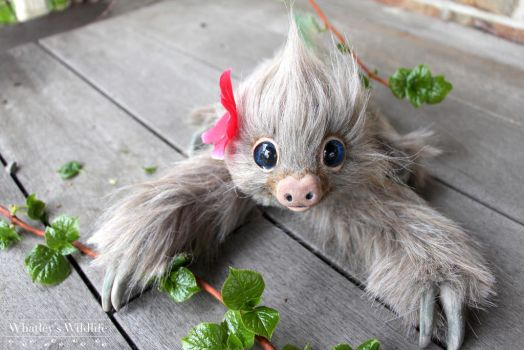 Realistic Poseable sloth art doll - OOAK by whatleyswildlife