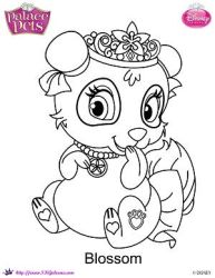 SKGaleana 14 0 Princess Palace Pets Blossom Coloring Page By
