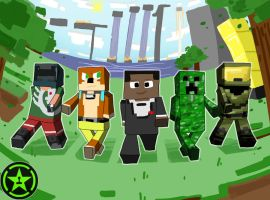 Achievement Hunter-Minecraft by EllaMRed
