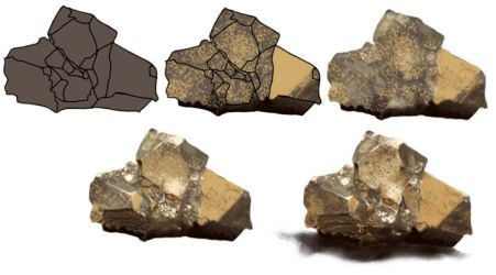 Step by Step Pyrite stone by kiger8kiger