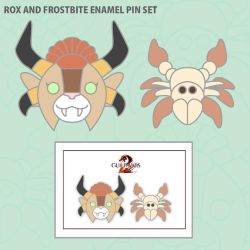 For Fans by Fans: Rox and Frostbite Enamel Pin Set by II-Art