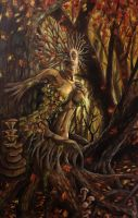 Autumn Dryad by Thredbear