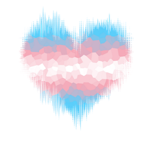 Transgender Glitch Heart by Pride-Flags
