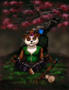 Commission: Lily the Pandaren by NetRaptor