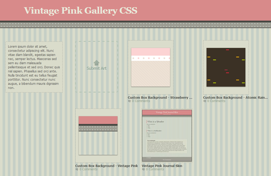 Gallery Skin CSS - Vintage Pink by illiyah
