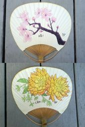 Custom painted fans by karenluk
