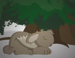 Napping Wolpertinger by BeckHop