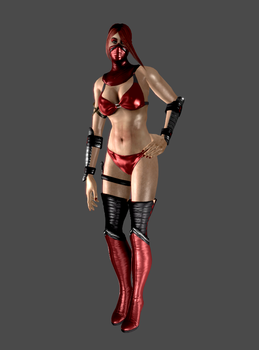 New Skarlet mesh - mod by anorexianevrosa