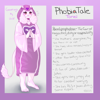 Undertale AU: Phobiatale: Toriel by Moona-chann