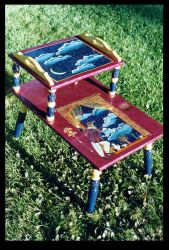 Harlequin's Dream Endtable by ReincarnationsDotCom