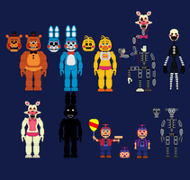 FNaF 2 Toy Animatronics by PromtheMAn360003