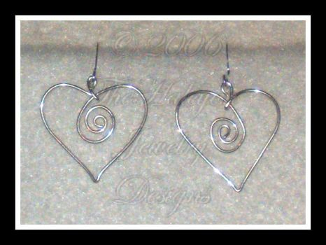 Sterling Heart Swirl Earrings by TheHalcyon-Jewelry