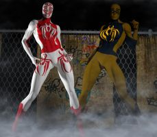 Spidergirl 2nd skin textures for V4 by hiram67