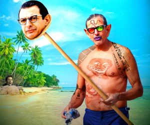 Goldblum at the Beach by JKSpoffy