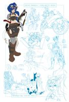 2012 MTAC Conkitty concept sketch page. by KanonFodder