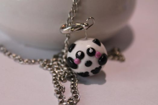 Fimo Panda charm by LittleGREENworld