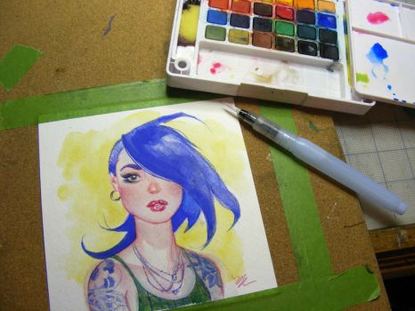 Watercolor play time by MichaelDooney