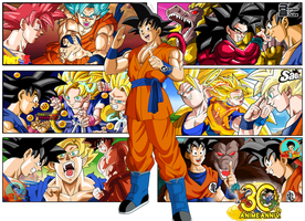 Goku 30TH Aniversary Poster by Frost-Z