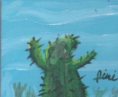 CACTUS ON CANVAS SPEED DRAWING +VIDEO by IDROIDMONKEY